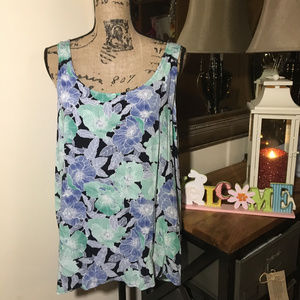 Ann Taylor Loft Flower Sleeveless Top